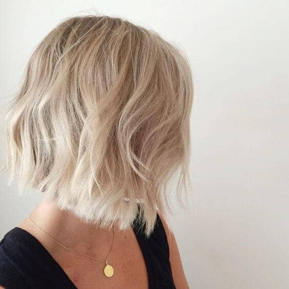 Cute Hair Color and Tousled Bob
