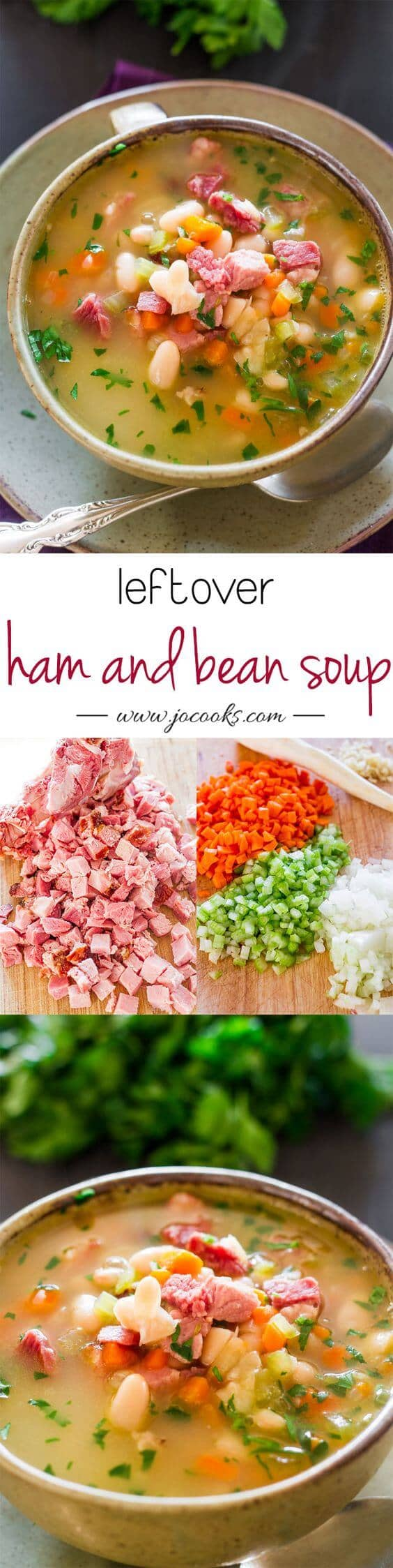 Use Leftovers Wisely with Ham and Bean Soup