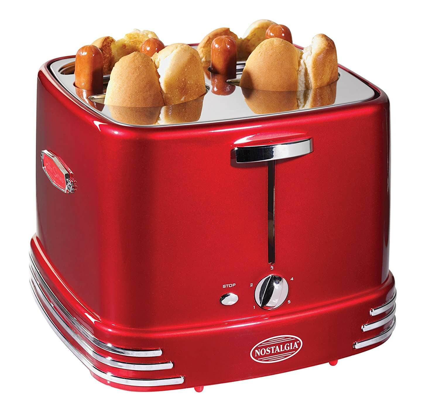 Nostalgia Retro Red Pop Up Hot Dog Toaster