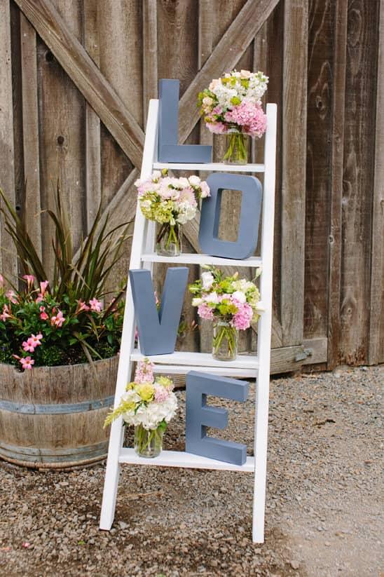 DIY Love Ladder Engagement Party Decoration