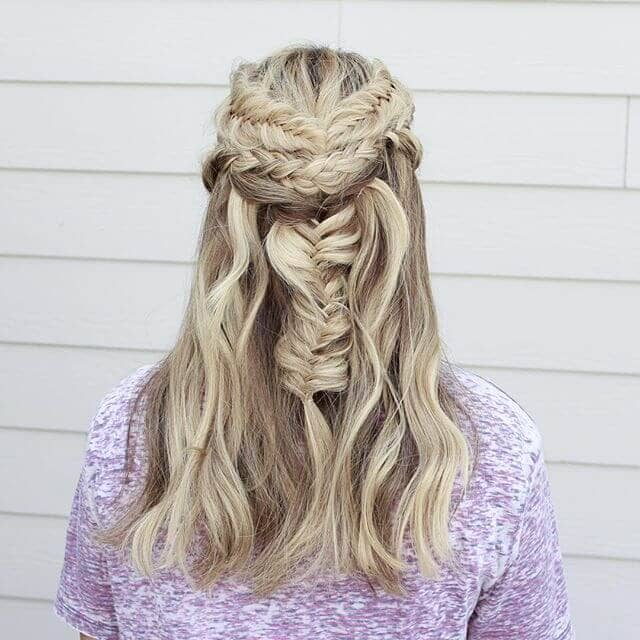 Fishtail Braids to Show off Color