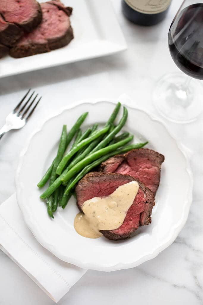 Beef Tenderloin Roast with Green Beans