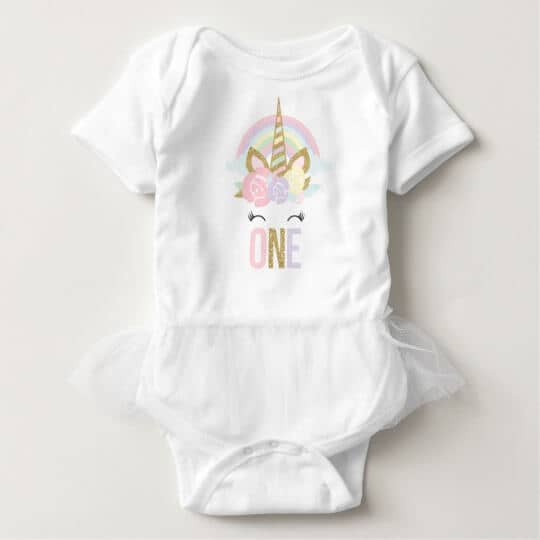 Unicorn Tutu Bodysuit Unicorn 1st Birthday Outfit