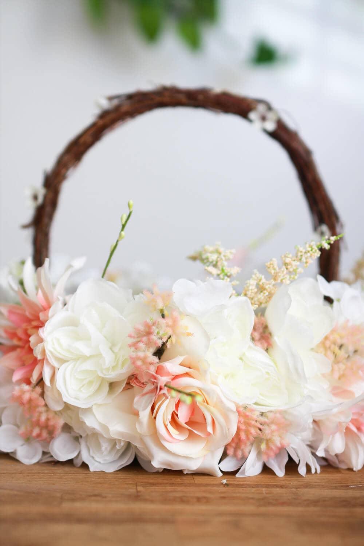 Bountiful Silk Flowers on a Basket