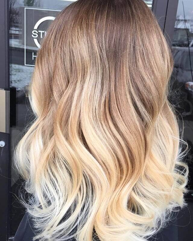 Gradient Balayage Blonde Highlights