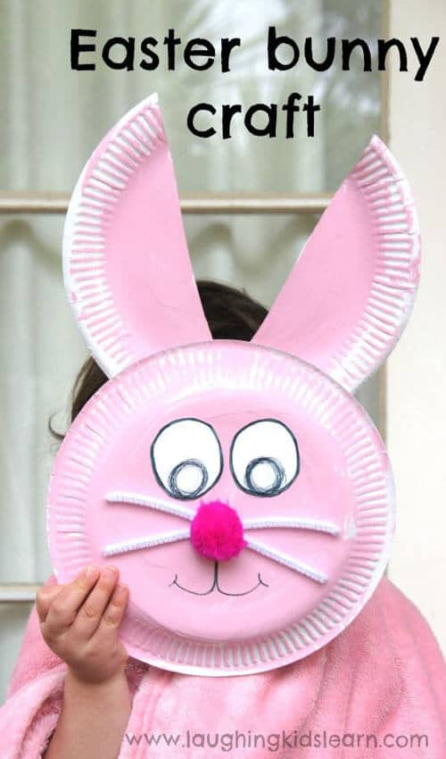 Paper Plate Bunny Face Project
