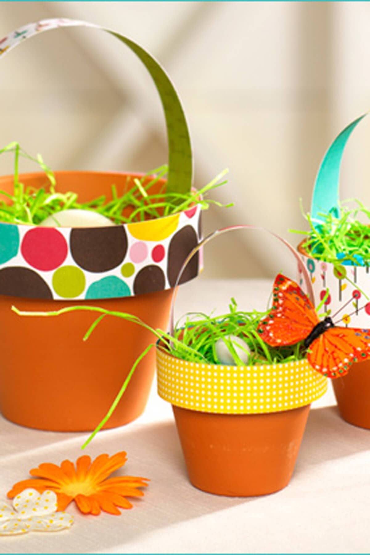 DIY Easter Basket Idea with Terra Cotta