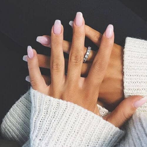 Clean and Simple Long Fake Nails