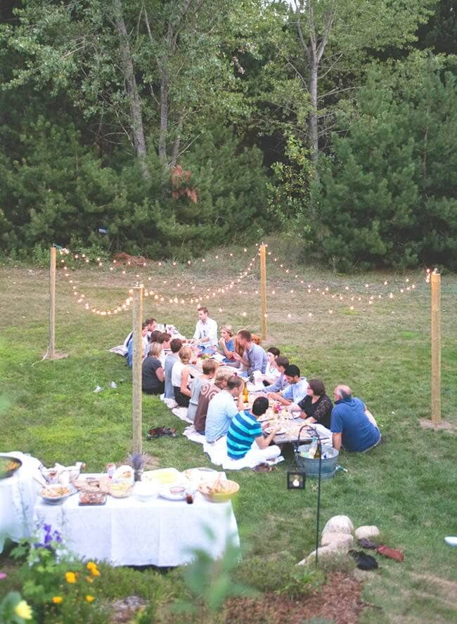 Intimate Engagement Party Seating