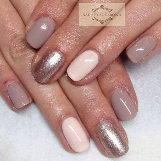 Bouquet of neutral nail colors