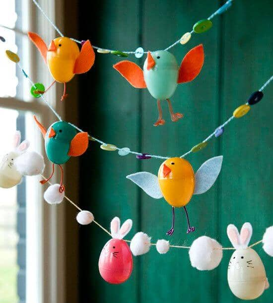 Easter Egg Chicks on a Fun Garland