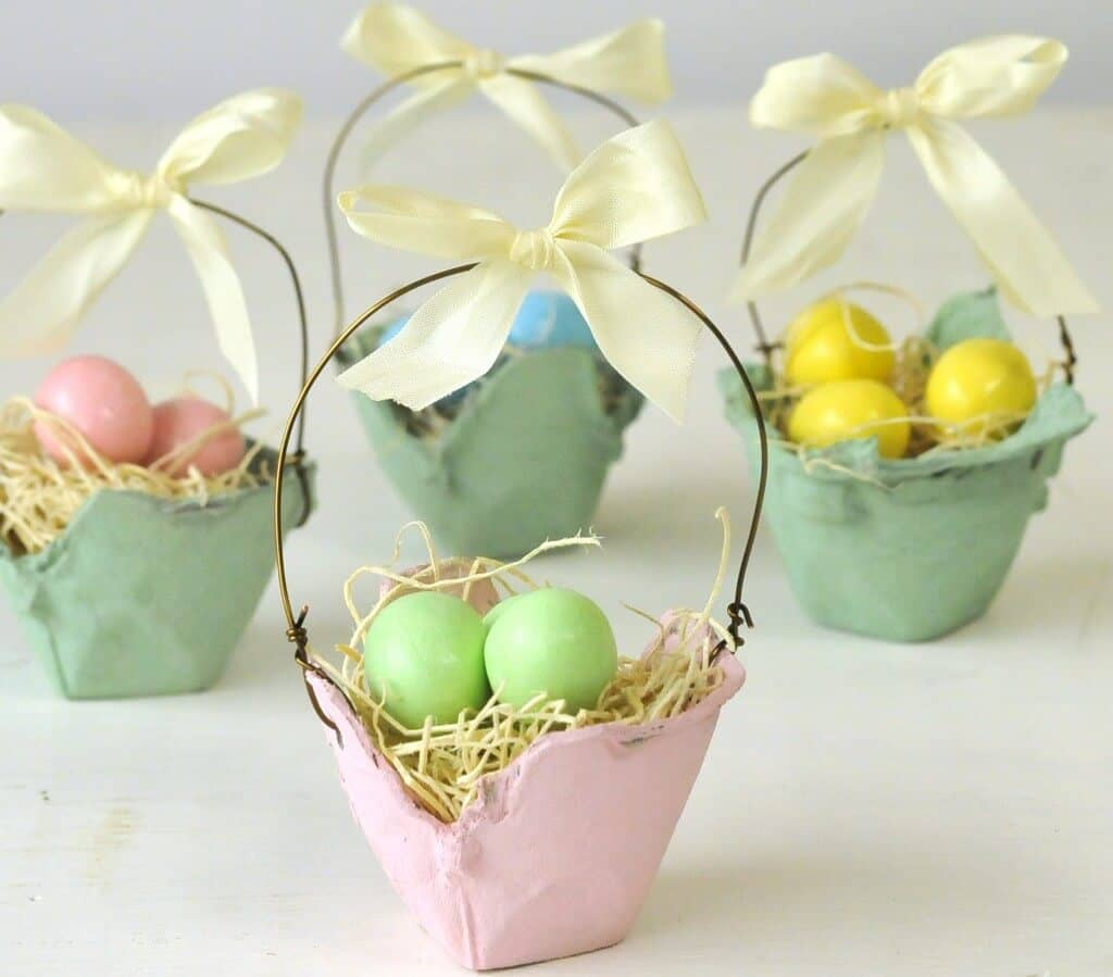 Mini Egg Crate Easter Baskets