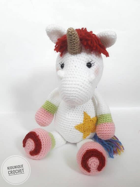 Stuffed Rainbow Unicorn Toy