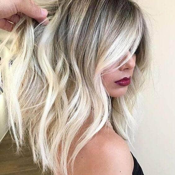 Polarizing Dark-to-Light Hairstyle Idea