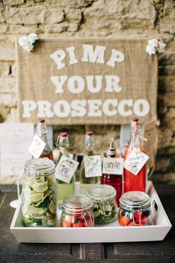 Super Fun Create-Your-Own Prosecco Bar