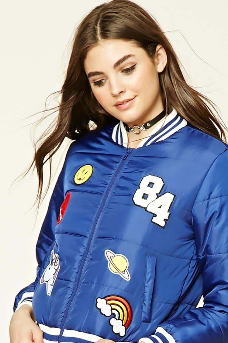 Patch Puffer Jacket