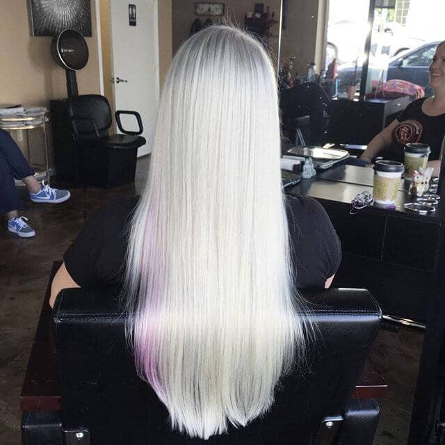 Ice Blonde Shows off Shine