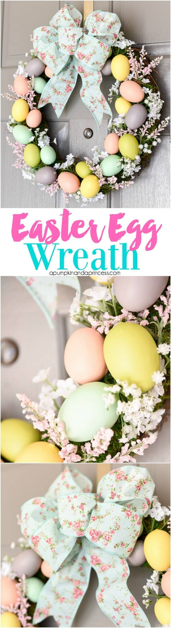 Colorful Easter Egg Decorations Wreath