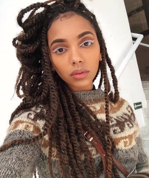 Cute Twisted Braids for a Change of Texture