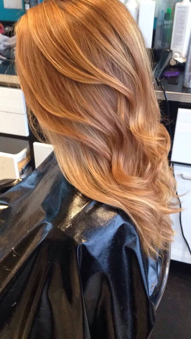 Honey Toned Strawberry Blonde Color