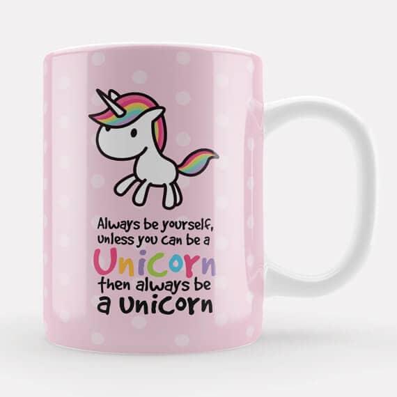 Cute Pink Unicorn Mug
