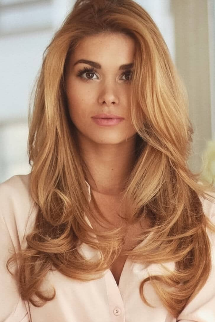 Smooth, Tousled, Strawberry Blonde Waves