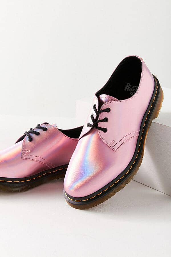 Dr. Martens 1461 Iced Metallic Mallow Pink Oxford