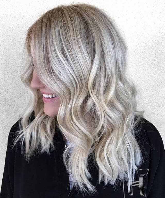 Darker Ash Blonde with Highlights