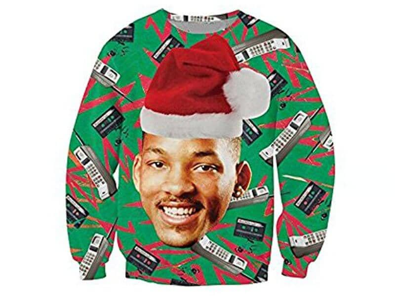 KSJK Unisex Funny Print Ugly Christmas Sweater