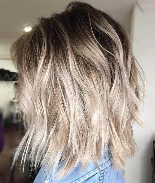 Ultra-light Blonde Hairstyle