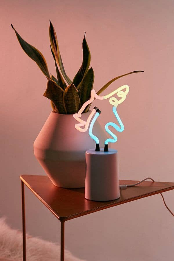 Sunnylife Mini Unicorn Neon Sign Table Lamp