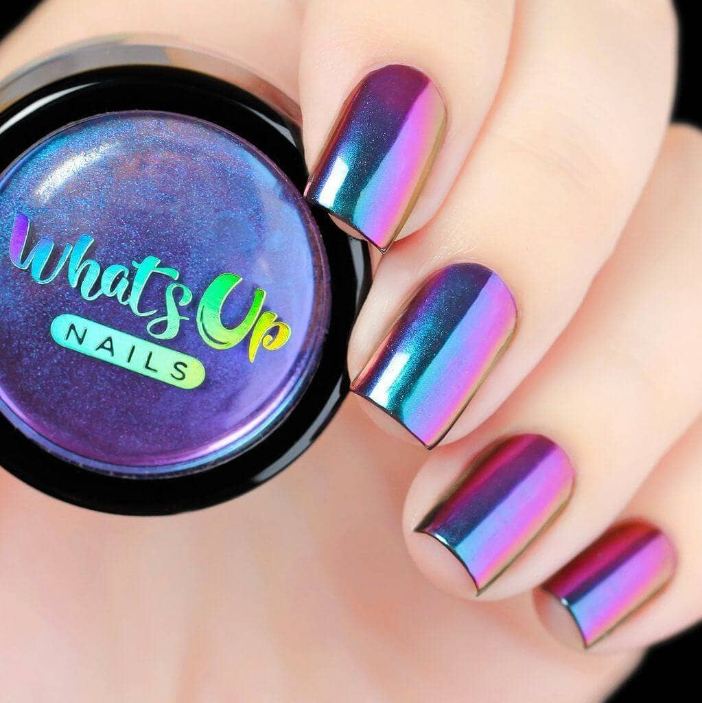 Gorgeous Galaxy Holographic Nails