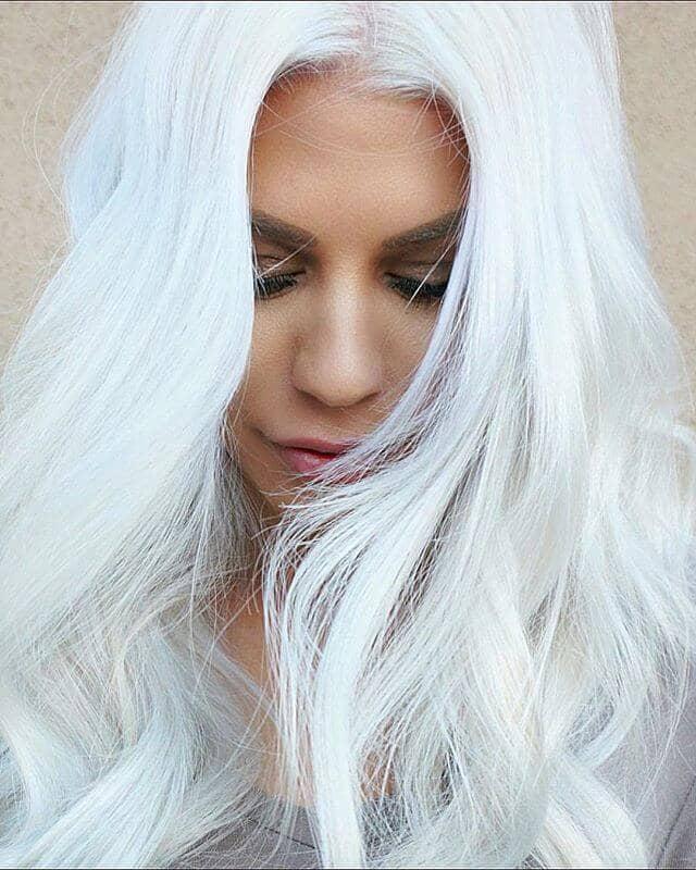 High Fashion Pure White Blonde