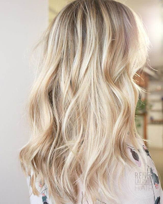 Beautiful Luxury Blonde Balayage Elegance