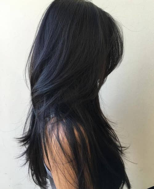Long Ultra-Straight Layered Hair