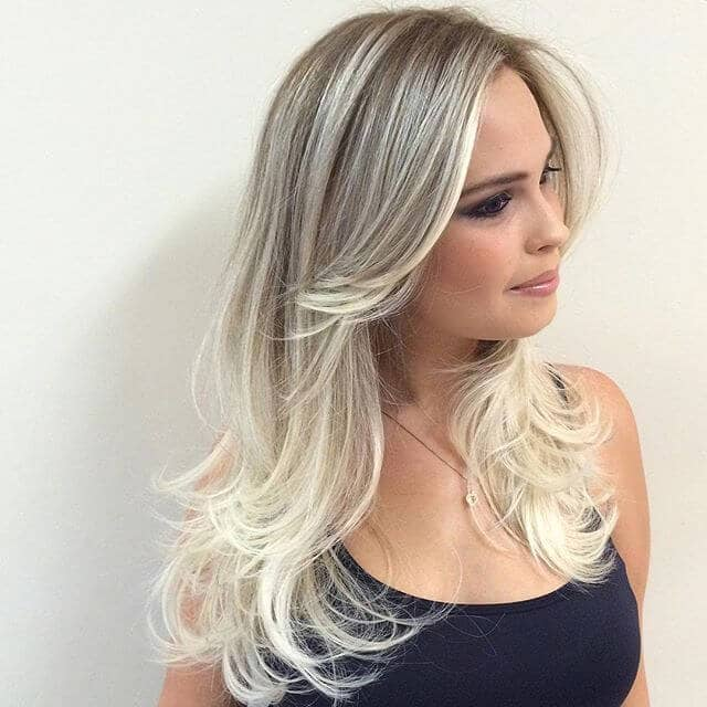 Ash Blonde with Layers and Highlights