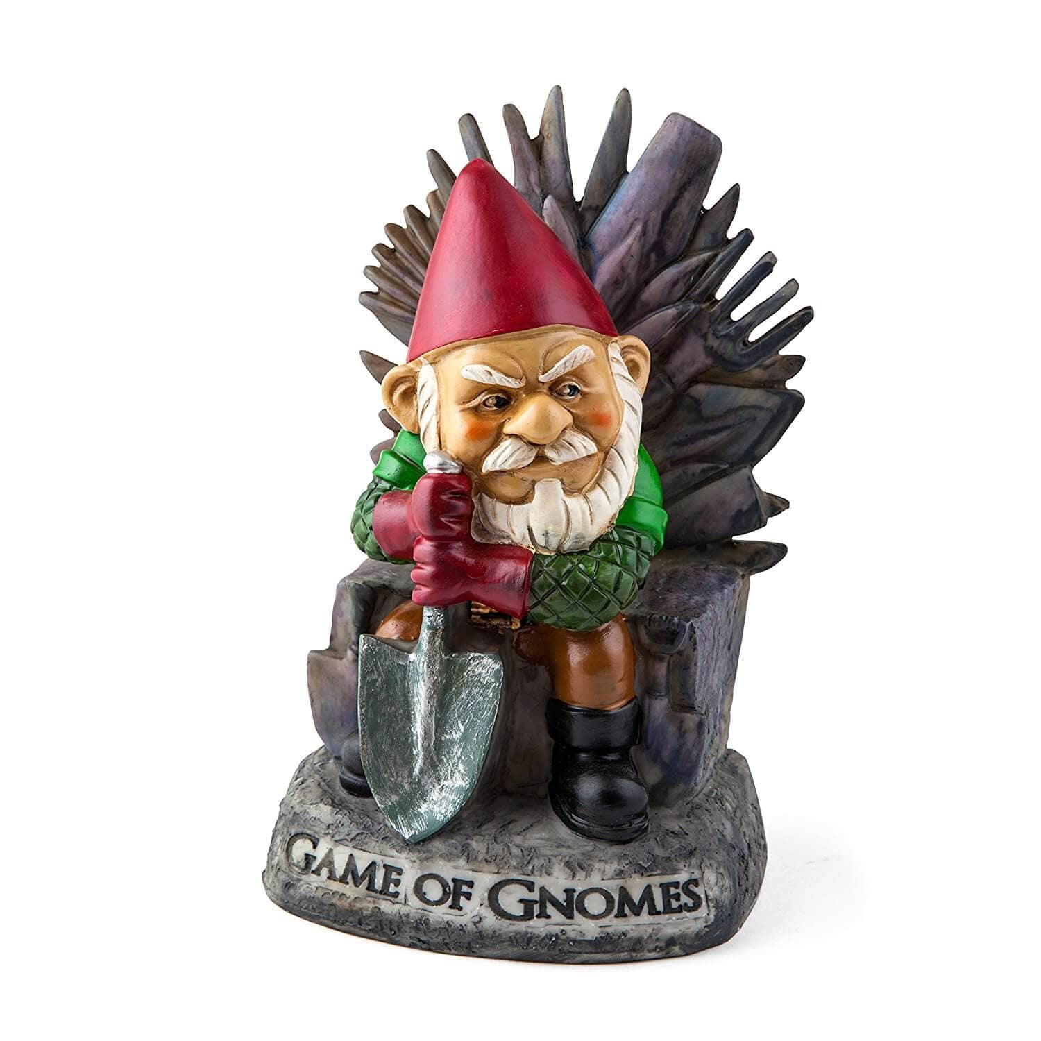 "Bigmouth, Inc. ""Game of Gnomes"" Garden Gnome Statue"