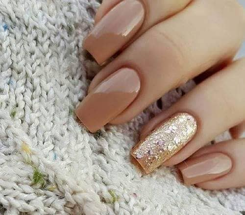 Butterscotch and Gold Best Artificial Nails
