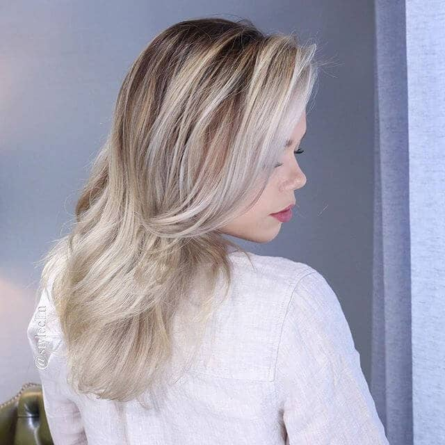Dramatic Ombre with Golden Platinum