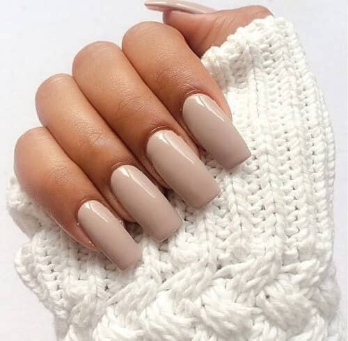 Long and Clean Almond Acrylic Nails