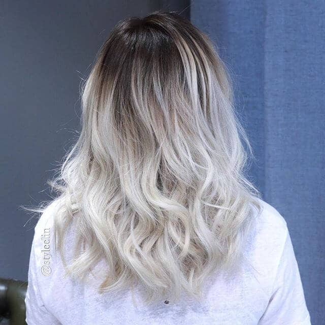 Edgy Dark Roots with Light Ash Ends