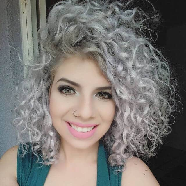 Light Silver to Highlight Curls