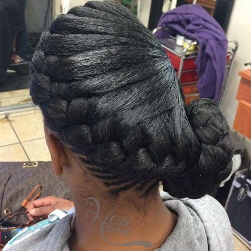 An Intricately Braided Side Bun