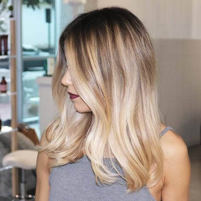 Full Toned Blonde Balayage Hair Color