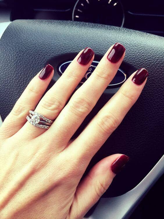 Mahogany Jelly Shellac Manicure