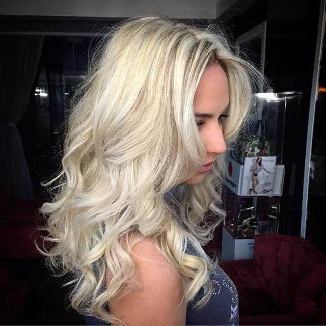 Classic Platinum with Beach Waves