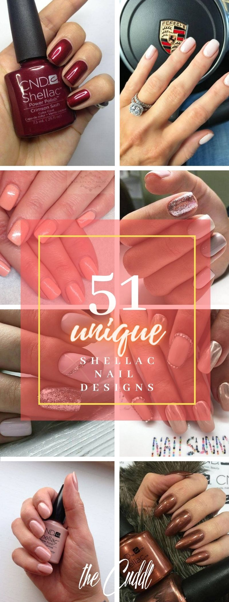 50 Unique Shellac Ideas To Get Your Nails On Point