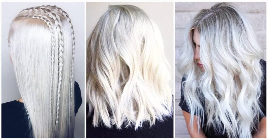 Platinum Blonde Hair Design Ideas