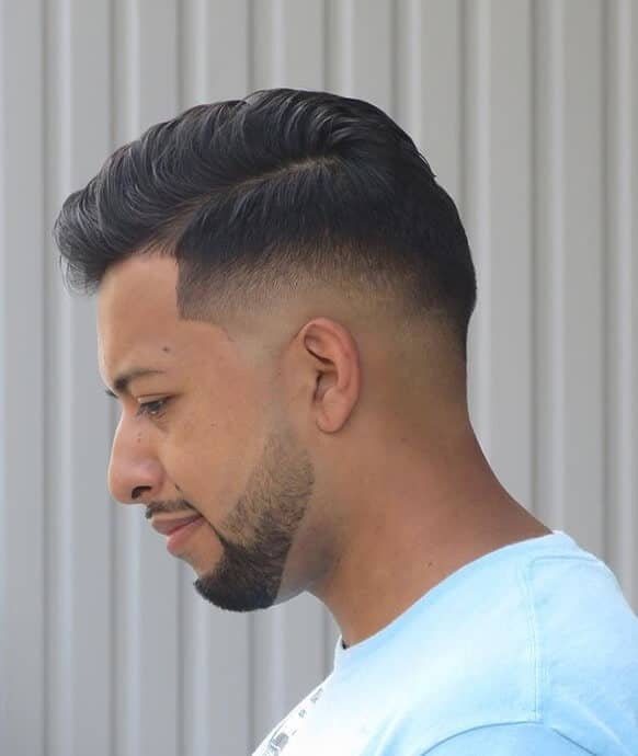 Side Part Undercut with Gradient Skin Fade