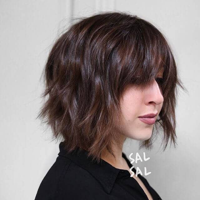 Long Bangs With a Layered Cut